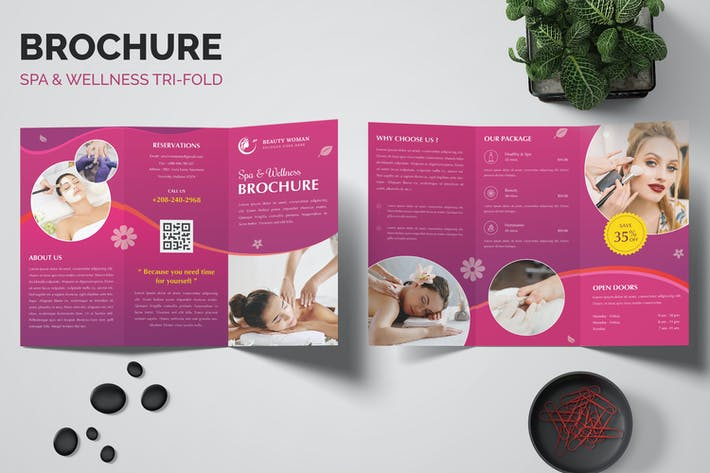 Thumbnail for Spa & Wellness Trifold Brochure