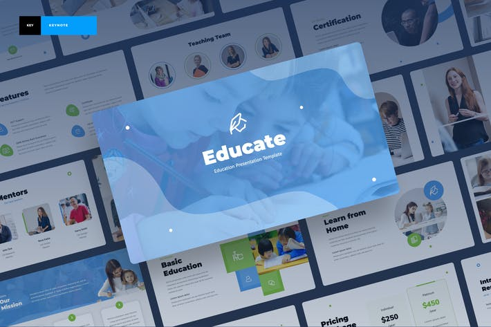 Thumbnail for Educate - Шаблон ключевых заметок образования