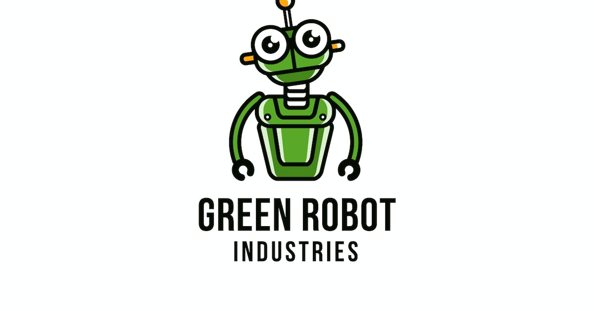 Download Green Robot Logo Template by IanMikraz
