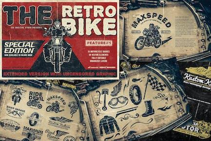 Vintage Motorrad Abzeichen