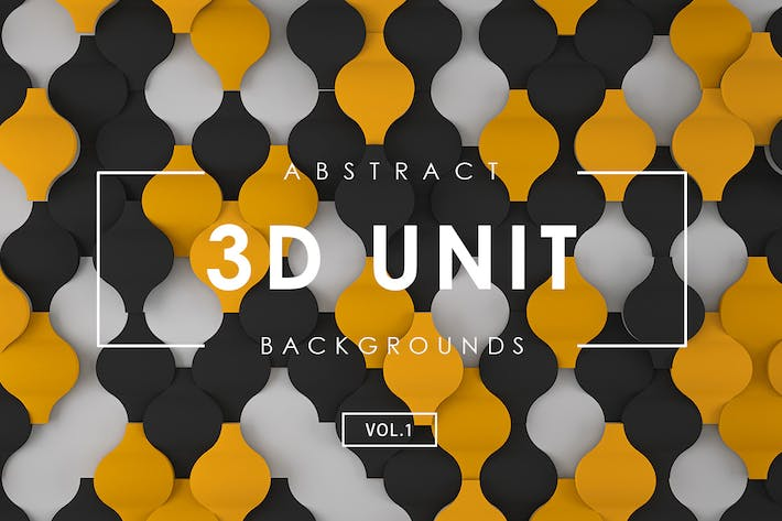 Cover Image For 3D Unit Abstract Backgrounds Vol.1