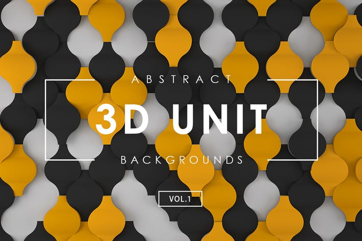 3D Unit Abstract Backgrounds Vol.1