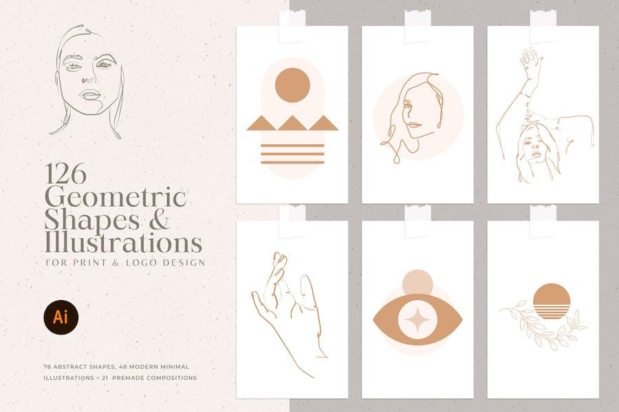 Feminine Lineart Illustrations