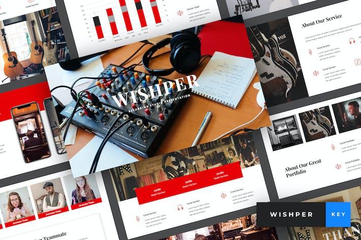 Cover Image For Whisper - Recording Studio Keynote Template