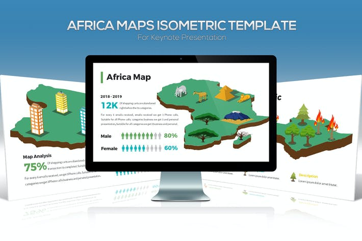 Thumbnail for Africa Maps Isometric & Legends For Keynote