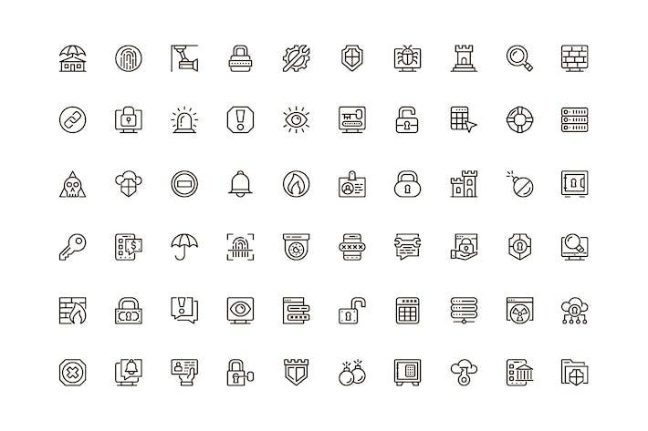 Security Unique Web Line Icons Pack