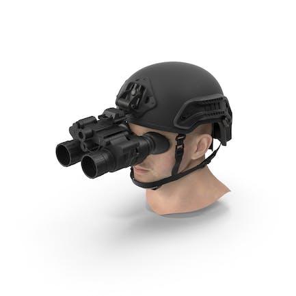 Военный шлем с головой
