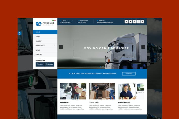 Thumbnail for TransGo - Transport & Logistics Joomla Template