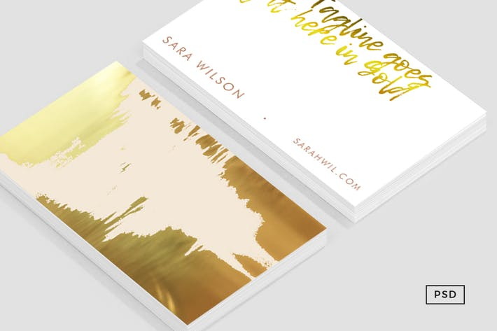 Cover Image For Blush Gold Business Card Template