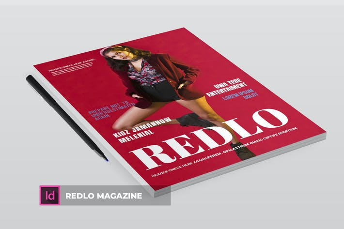 Cover Image For Redlo | Magazine Template