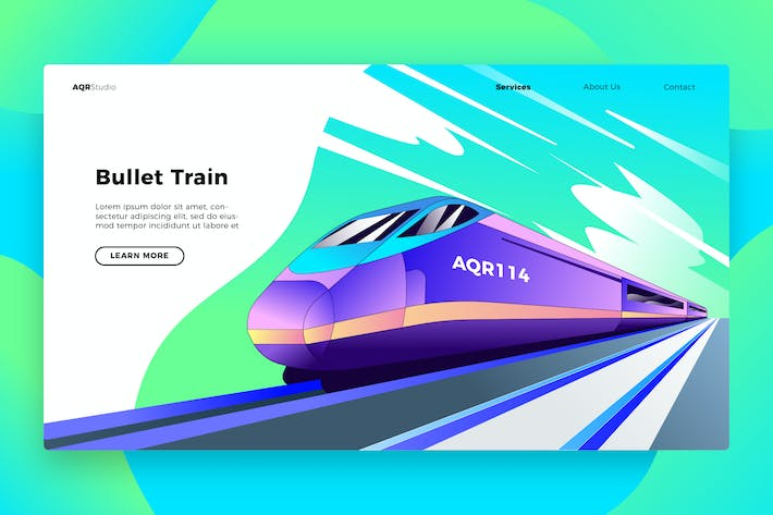 Thumbnail for Bullet Train- Banner & Landing Page