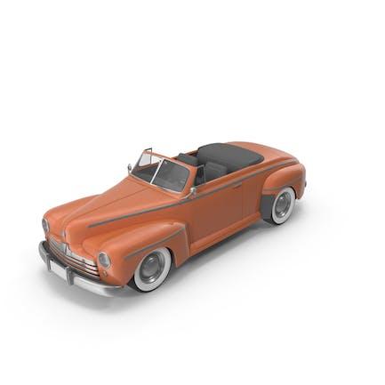 Винтажный кабриолет автомобиль Оранжевый