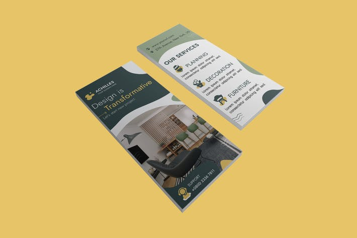 Thumbnail for Architecture & Interior Designer DL Rackcard