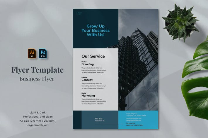 Thumbnail for Business Flyer Template 1.7