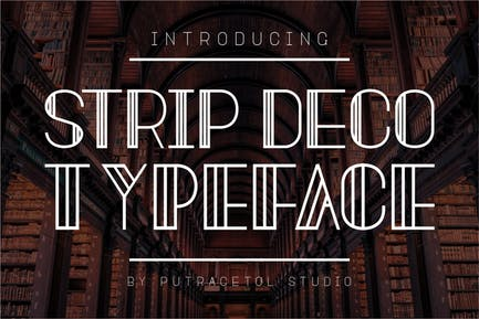 Strip Deco - Art Display Font