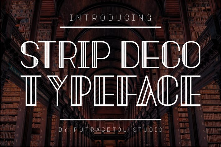 Strip Deco - Art Display Font