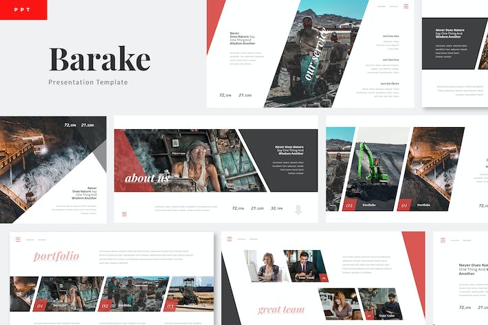 Barake - Coal Mining Powerpoint Template