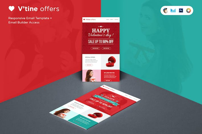 Thumbnail for Valentine E-Marketing Template