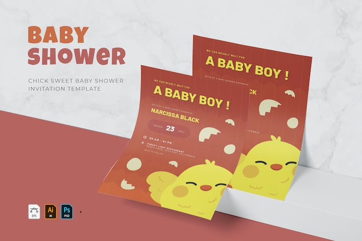 Chick Baby | Baby Shower Invitation