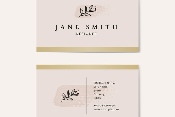 Thumbnail for Minimal pink business card template vector