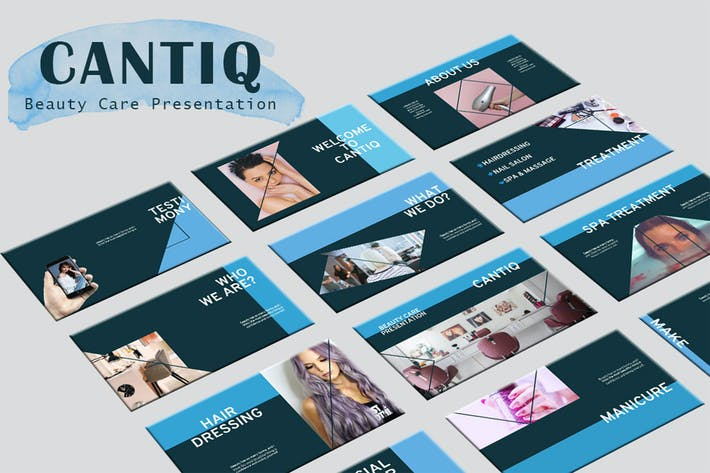 Thumbnail for Cantiq - Beauty Care PowerPoint Presentation