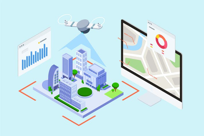 Thumbnail for IOT Drone Survey And Map Isometric - TU