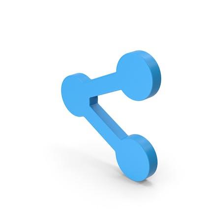 Symbol Share Button Blue