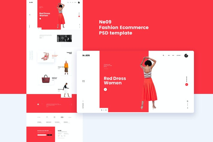 Thumbnail for Ne09 - Fashion Ecommerce PSD template