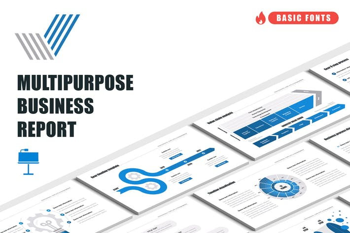 Thumbnail for Multipurpose Business Report Keynote