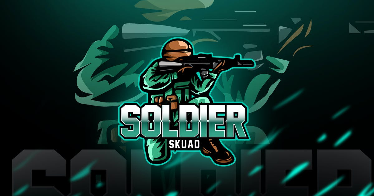 Download soldier - Mascot & Esport Logo by aqrstudio