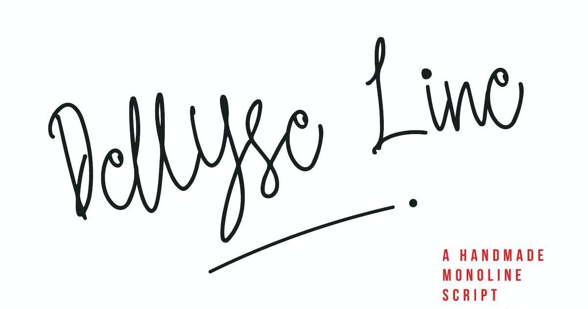 Download Dellyse Line - A Handmade Monoline Script Typeface by IanMikraz