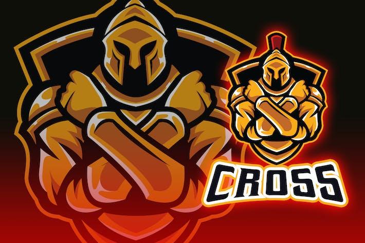 Thumbnail for Cross Arms Warrior Esport Logo