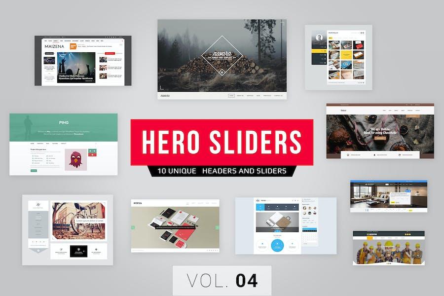 Hero Sliders Vol. 4