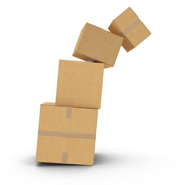 Thumbnail for Falling Cardboard Box Stack