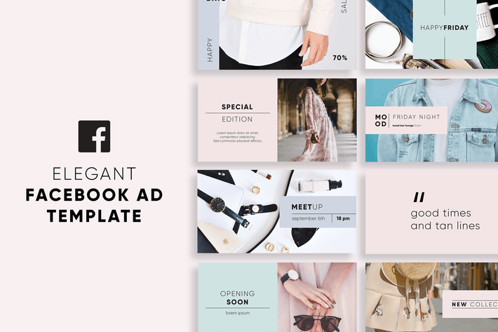 Thumbnail for Elegant Facebook Ad Templates