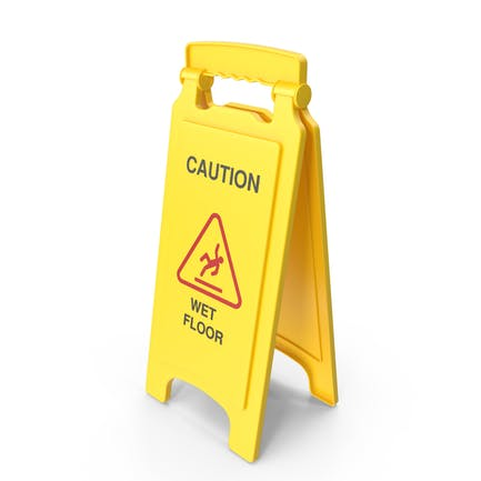 Знак безопасности мокрого пола