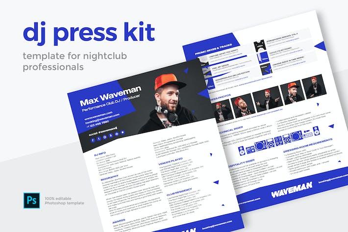 Thumbnail for Modern DJ Press Kit / Resume / Rider Template