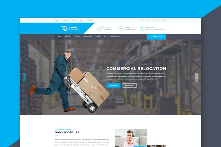 Thumbnail for Trudel - Moving Company PSD Template