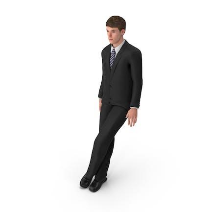 Hombre de negocios John Inclinado