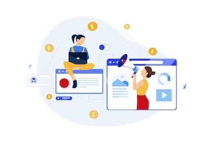 Digital Marketing Konzept - Digital Marketing