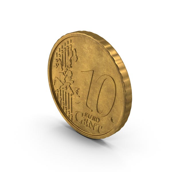 Euro 10 Cent Coin German Aged