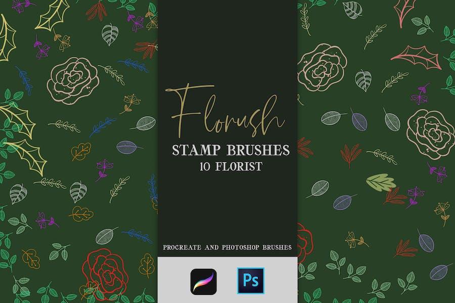 Кисти для штампов Florush