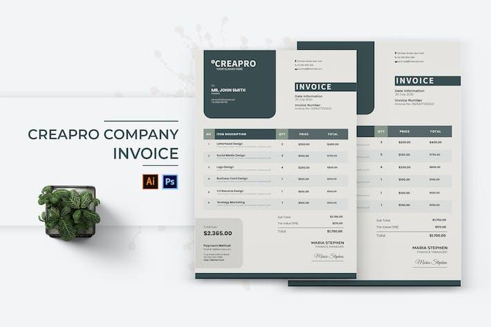 Thumbnail for Creapro Company Invoice
