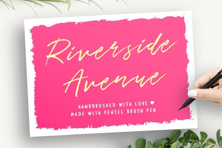 Thumbnail for Riverside Avenue Script Font
