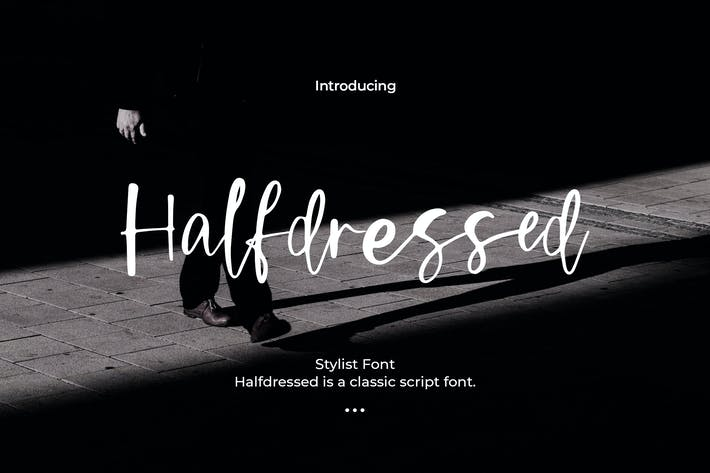 Thumbnail for Halfdressed - Stylist Font