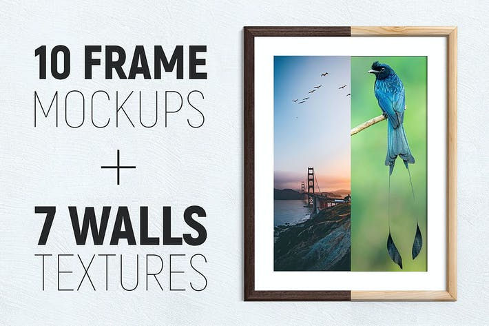 Thumbnail for 10 Frames - Wood & Metal + 7 Walls