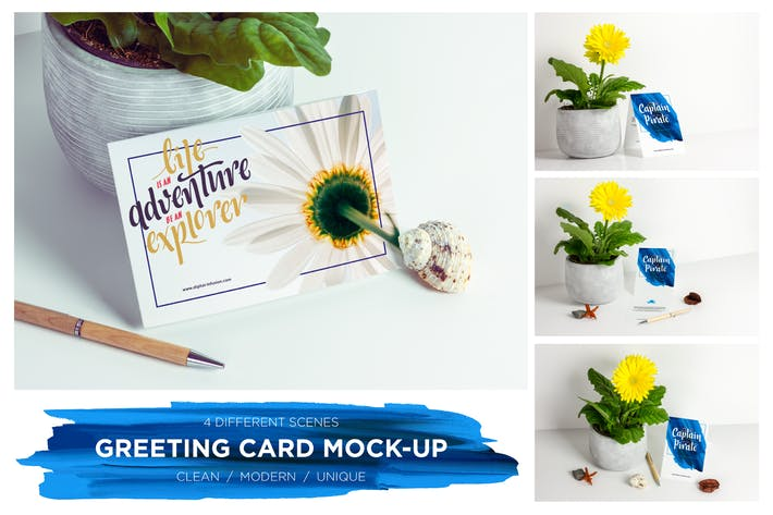 Thumbnail for Greeting Card  / Invitation Mockup