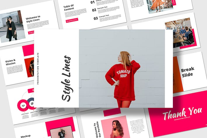 Thumbnail for Style lines - Keynote Presentation Template