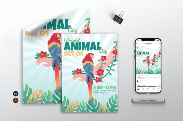 World Animal Day - Flyer, Poster & Instagram GR