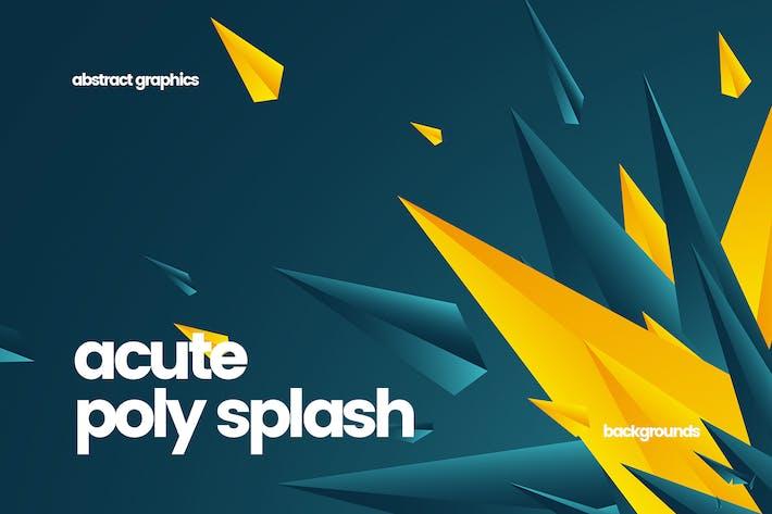 Thumbnail for Acute Polygonal Splash Backgrounds